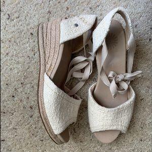 UGG wedge sandals.